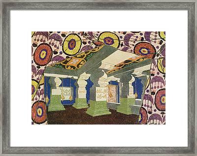 Oriental Scenery Design Framed Print