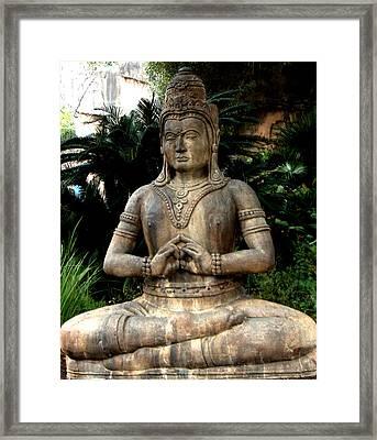 Oriental Statue Framed Print