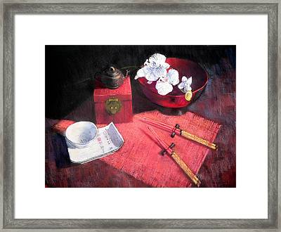 Oriental Still Life Framed Print by Jackie Simmonds