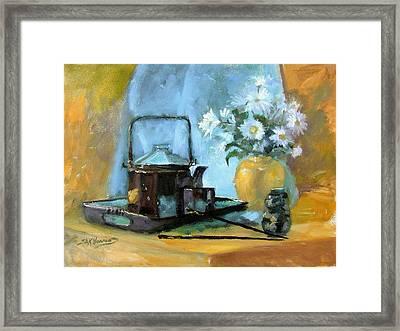 Oriental Teapot Framed Print