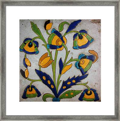 Oriental Tile Framed Print by Celestial Images
