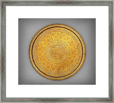 Oriental Tray Framed Print by Celestial Images