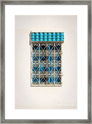 Oriental Window Framed Print by Delphimages Photo Creations