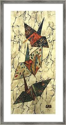 Origami Cranes Framed Print by Lynda K Boardman