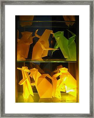 Origami Framed Print by Leena Pekkalainen