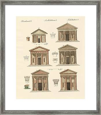 Origin And Development Of Architecture Framed Print