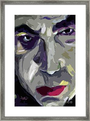 Original Abstract Art Bela Lugosi Dracula Framed Print by Ginette Callaway