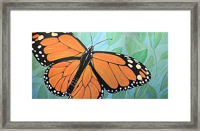Framed Print featuring the painting Original Abstract Painting Butterfly Print ... Monarch by Amy Giacomelli