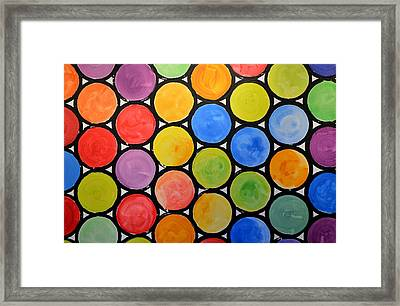 Framed Print featuring the painting Original Abstract Painting Circles Print ... Watercolor Windows by Amy Giacomelli