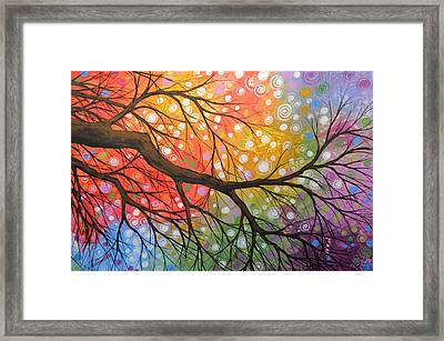 Original Abstract Painting Landscape Print ... Bursting Sky Framed Print