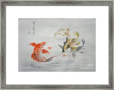 Original Animal  Oil Painting Art- Goldfish Framed Print