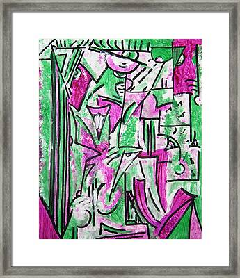 Original Art Painting Framed Print by Lois Picasso