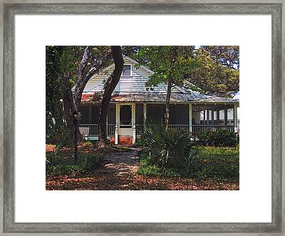 Framed Print featuring the photograph Original Beach Cottage # 625 by Laura Ragland