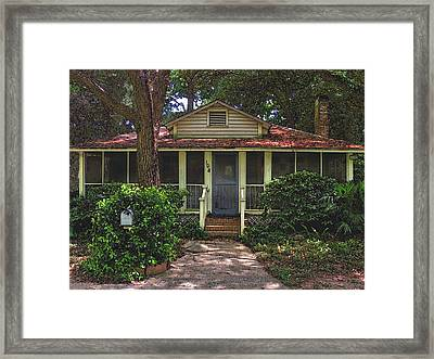 Framed Print featuring the photograph Original Beach Cottage #108 by Laura Ragland