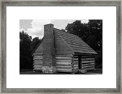 Framed Print featuring the photograph Original Cabin Of President Andrew Jackson by Robert Hebert