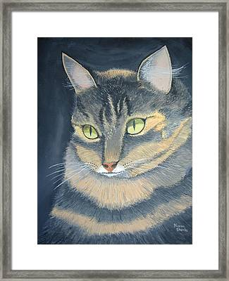 Original Cat Painting Framed Print by Norm Starks