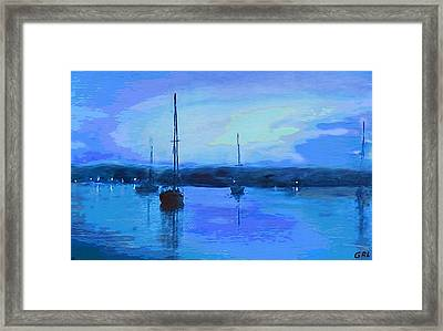 Original Digital Painting Quiet Evening Framed Print