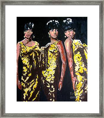 Original Divas The Supremes Framed Print by Ronald Young