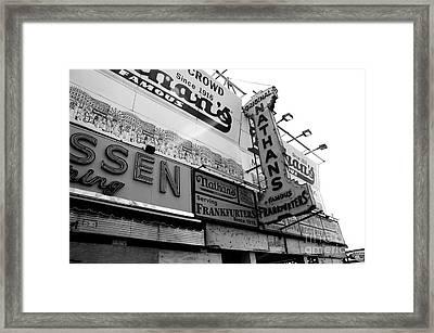 Original Famous - Nathans Frankfurters Framed Print