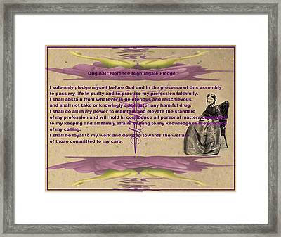 Original Florence Nightingale Pledge Poster Framed Print