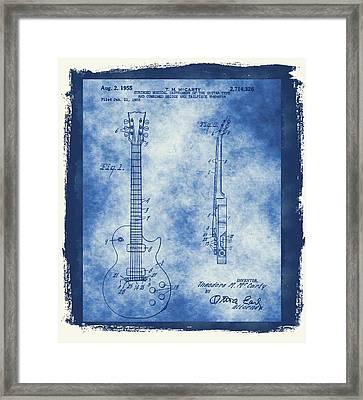 Original Guitar Patent  Framed Print by Dan Sproul