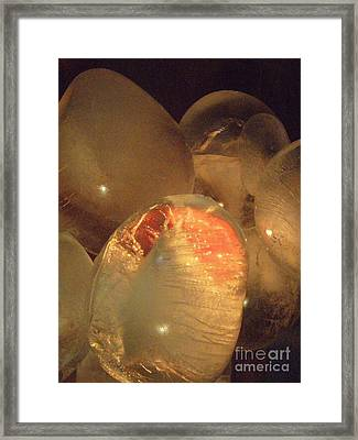 Framed Print featuring the sculpture Original Heart by Kristine Nora