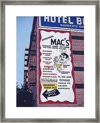Original Mac's Framed Print by Paul Guyer