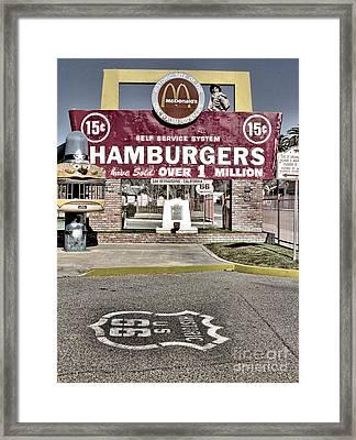 Original Mcdonald's Framed Print by Jason Abando