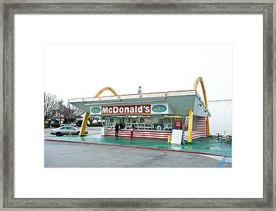 Original Mcdonald's Restaurant Framed Print by Joe Belanger