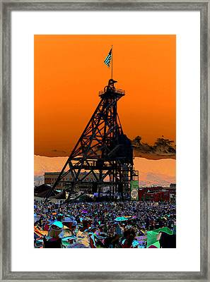 Framed Print featuring the photograph Original Mine Yard Montana Folk Festival 2013 by Kevin Bone