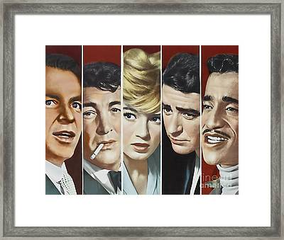 Original Oceans 11 Cast Framed Print