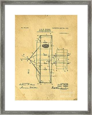 Original Patent For Wright Flying Machine 1906 Framed Print by Edward Fielding