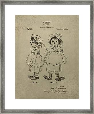 Original Raggedy Ann Doll Framed Print by Dan Sproul