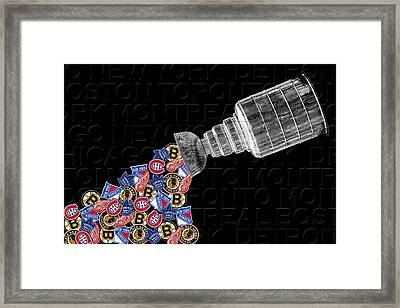 Original Six Stanley Cup 2 Framed Print