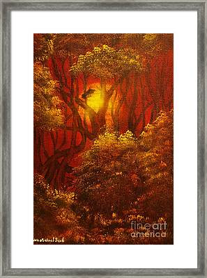 Fairytale Forest- Original Sold - Buy Giclee Print Nr 27 Of Limited Edition Of 40 Prints  Framed Print