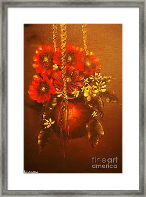 Hanging Flower Pot-original Sold-buy Giclee Print Nr 24 Of Limited Edition Of 40 Prints   Framed Print