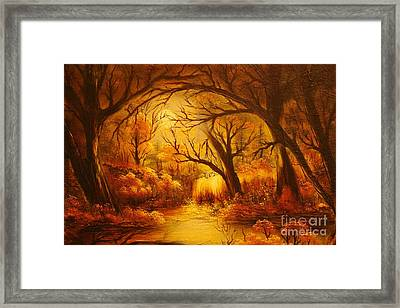 Hot Forest- Original Sold- Buy Giclee Print Nr 29 Of Limited Edition Of 40 Prints  Framed Print by Eddie Michael Beck