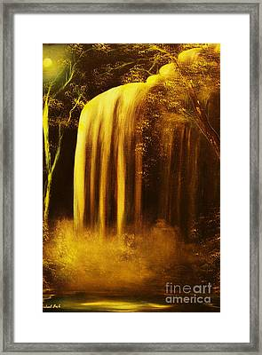 Moon Shadow Waterfalls- Original Sold - Buy Giclee Print Nr 30 Of Limited Edition Of 40 Prints    Framed Print