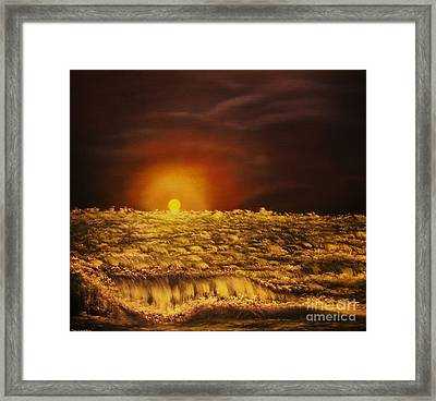 Norwegian Winter Sunset- Original Sold--buy Giclee Nr 26 Of Limited Edition Of 40 Prints  Framed Print by Eddie Michael Beck