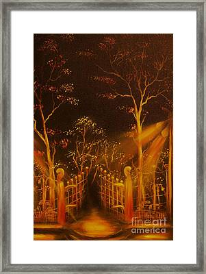 Parks Gate-original Sold- Buy Giclee Print Nr 29 Of Limited Edition Of 40 Prints  Framed Print