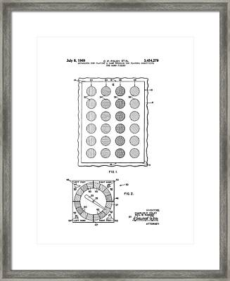 Original Twister Game Patent Framed Print