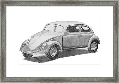 Original Vw Beetle Framed Print by Catherine Roberts