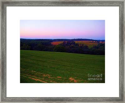 Original Woodstock Concert Site - Back To The Garden Framed Print by Susan Carella