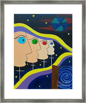 Origins Unknown Framed Print by JoNeL Art