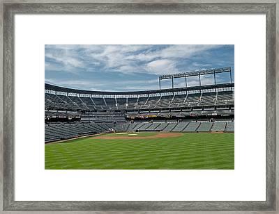 Oriole Park At Camden Yards Stadium Framed Print