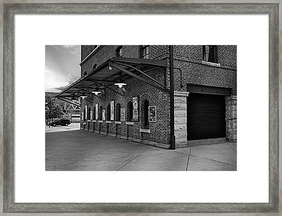 Oriole Park Box Office Bw Framed Print by Susan Candelario