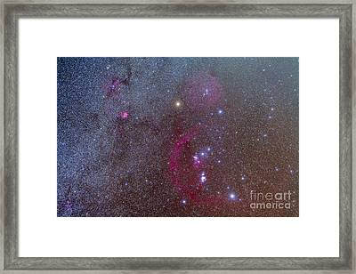 Orion And Monoceros Region Framed Print by Alan Dyer