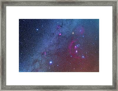 Orion And The Winter Triangle Framed Print by Alan Dyer