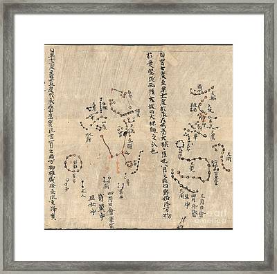 Orion Constellation, Dunhuang Star Chart Framed Print by British Library