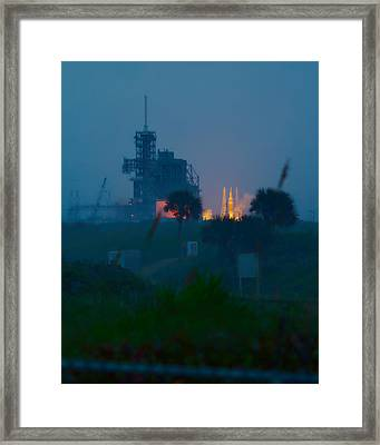 Orion Eft-1 Liftoff Framed Print